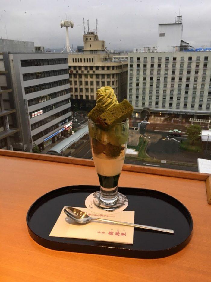 抹茶パフェなら京都!